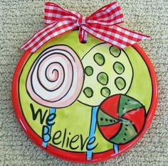 Purchase unique Christmas Hand Painted Ceramic Ornaments, Flat Ceramic Christmas Ornaments, Personalized Ornaments, and Baby First Christmas Ornaments. Painted Christmas Ornaments, Ceramic Christmas Trees, Hand Painted Ornaments, Christmas Decorations, Christmas Plates, Christmas Gift List, Baby First Christmas Ornament, Christmas Ideas, Christmas Goodies