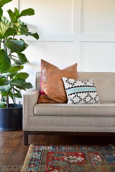 DIY Leather Pillow Tutorial & How To Sew A Zippered Pillow Cover (The EASY Way!) - Vintage Revivals