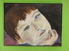Kubuś Mój pierwszy portret, akryl, ręcznie malowany, płótno