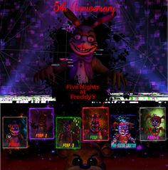 (Fnaf Sfm) Anniversary by on DeviantArt Night Of The Dead, Fnaf Oc, Challenges To Do, Fan Poster, Fnaf Wallpapers, William Afton, Fnaf Characters, Fnaf Drawings, Love Posters