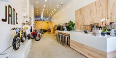 Jane Motorcycles (custom motorcycle, apparel, and espresso shop) 396 Wythe Ave. Brooklyn, NY. (347) 844-9075