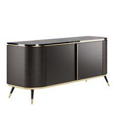 Kitchen Sideboard, White Sideboard, Sideboard Cabinet, Cabinet Furniture, Furniture Design, Luxury Furniture, Credenza, Modern Interior, Modern Decor