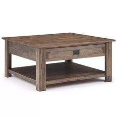Large Square Coffee Table, Wood Square, Contemporary Coffee Table, Rustic Contemporary, Coffee Table With Drawers, Rustic Coffee Tables, Rustic Table, Rustic Decor, Thing 1
