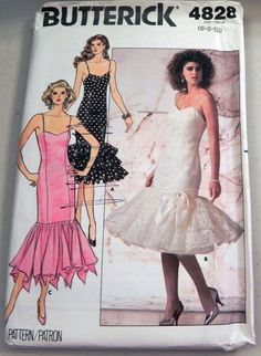 Mermaid style prom dress sewing patterns
