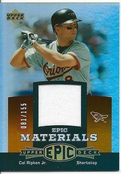 2006 UPPER DECK EPIC CAL RIPKEN JR. EPIC MATERIALS GAME USED JERSEY #'ED 81/155