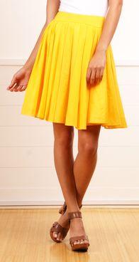 Yellow skirt, LOVE!