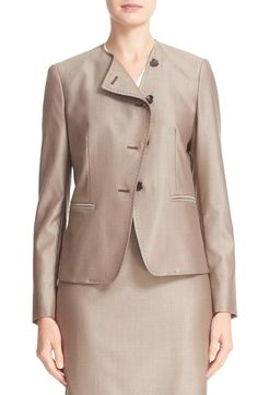 MAX MARA Erba Asymmetrical Jacket. #maxmara #cloth #