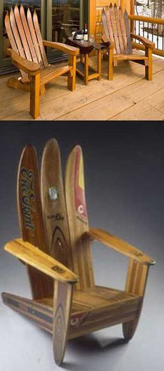 21 Home Exterior and Interior Decorating Ideas Recycling Old and Unique Vintage Skis