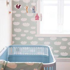 Ferm Living Tapet Cloud Mint - Ferm Living Wallpaper