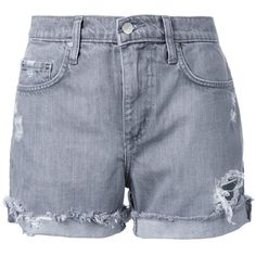 Nobody Denim Mondo Short Mineral (61.155 CLP) ❤ liked on Polyvore featuring shorts, bottoms, pants, grey, cut off shorts, cutoff shorts, cut off short shorts, grey shorts and nobody denim