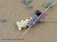 peyote nieparzysty - koralikowa obrączka Diy Beaded Rings, Beaded Earrings, Beaded Bracelets, Peyote Beading, Beaded Jewelry Patterns, Bracelet Patterns, Beaded Spiders, Feather Necklaces, Diy Accessories