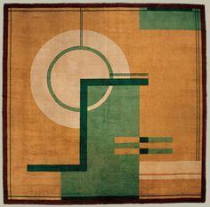 'Les Temps Nouveaux' rug design, produced in 1930