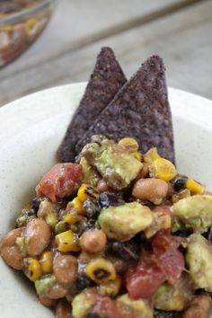 Healthy Southwest Avocado Bean Salad for that next outdoor barbecue or camping trip!