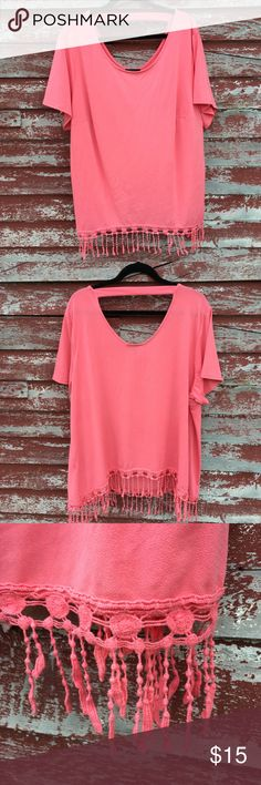 AB studio plus size coral top AB studio plus size top in a coral salmon color. AB Studio Tops