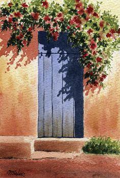 Watercolor Scenery, Watercolor Paintings Nature, Watercolor Paintings For Beginners, Scenery Paintings, Watercolor Art Lessons, Simple Canvas Paintings, Small Canvas Art, Indian Art Paintings, Easy Landscape Paintings
