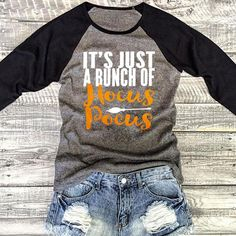be690a75065 It s Just a Bunch of Hocus Pocus Shirt Halloween Shirt Hocus Pocus Shirt  Fall Shirt Women Fall Graphic Shirts Hocus Pocus