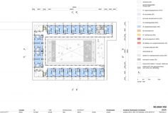 second floor plan with 18 units for assisted living (assistentiewoningen)