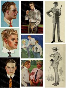 Don't miss out on Frday's freebies, in honor of Fathers Day Make your own cards. Free printable 1920s Fashion Illustrations of Men,