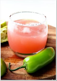 Watermelon Jalapeno Margarita 한국소주 처음처럼 넣어도 굿칵테일