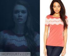 Teen Wolf: Season 5 episode 1 Lydia's pink lace yolk top