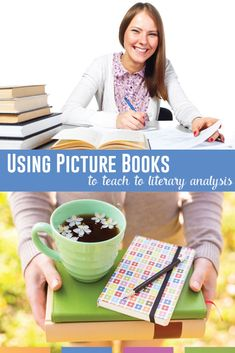 Use children's books in the secondary classroom to start literary analysis. Move students toward understanding as the identify concepts in picture books. High School Classroom, English Classroom, Art Classroom, Creative Teaching, Teaching Kids, Literary Terms, Teacher Hacks, Children's Books, Language Arts