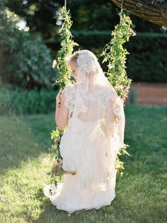 Lace wedding gown, Mexican themed outdoor wedding