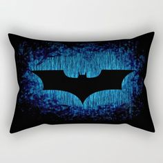 Dark Knight Blue Rain Pillow ~ $29 ~ Batman Bedroom Ideas!