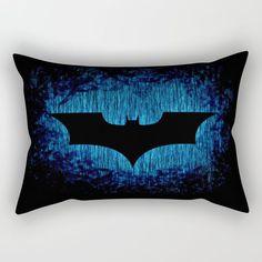 Dark Knight Blue Rain Pillow ~ $29 ~ Batman Bedroom Ideas! Batman Bedroom, Batman Gifts, Batman Birthday, Blue Rain, Batwoman, Dark Knight, Boy Room, Nerdy, Bedroom Ideas