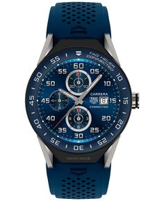 Tag Heuer Modular Connected 2.0 Men's Swiss Carrera Blue Rubber Strap Smart Watch 45mm SBF8A8012.11FT6077