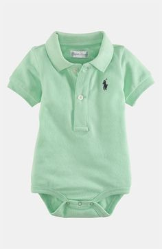 1a0f2e2e8 Ralph Lauren Polo Bodysuit (Infant) available at #Nordstrom Shirt Outfit, Baby  Boy