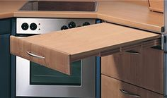 Pull-Out Table System by Hafele, load bearing capacity 220 lbs., self supporting, wood White/gray dotted)