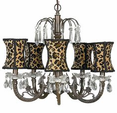Leopard Chandelier at Jack and Jill Boutique