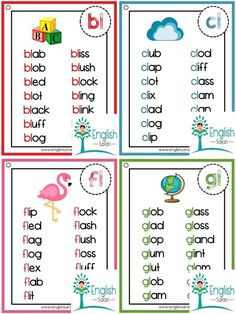 Phonics word lists for consonant blends   Etsy