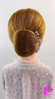 Hairdo For Long Hair, Bun Hairstyles For Long Hair, Braided Hairstyles, Hair Style Vedio, Hair Tutorials For Medium Hair, Hair Upstyles, Hair Videos, Hair Designs, Hair Hacks