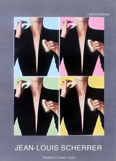Advert of the fragrance Jean-Louis Scherrer(1998) by Jean-Louis Scherrer