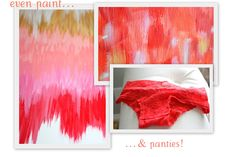 close up of my paintings & cute undies..coral overload!    http://homegrown-chic.blogspot.com/