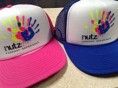 Custom heat pressed trucker hats