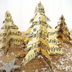 Last Minute Christmas...Easy Vintage Paper Trees :: Hometalk