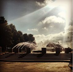 Waterfront Park in Charleston, S.C. - grew up running through this fountain when it was first opened