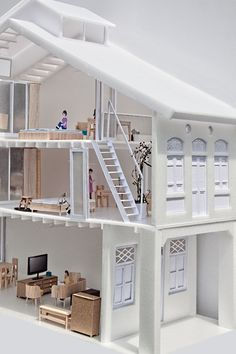House N° 11- model & presentation drawings: lim zhi rui and chan hui min