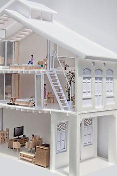 House N° 11- model & presentation drawings: lim zhi rui and chan hui min