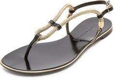 74f10848f Casadei - Flat Sandals - Black gold - Lyst