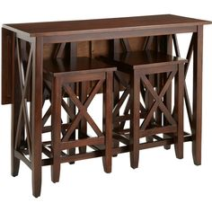 Pier 1 Imports Kenzie Mahogany Brown Breakfast Table Set ($350) ❤ liked on Polyvore featuring home, furniture, tables, dining tables, brown, mahogany drop leaf table, mahogany wood furniture, drop leaf dining table, drop leaf kitchen table and pier 1 imports furniture