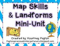 Map Skills and Landforms Mini-Unit $