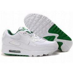 buy popular d5eef 36d8d Now Buy Nike Air Max 90 Womens White Green Online Save Up From Outlet Store  at Footlocker.