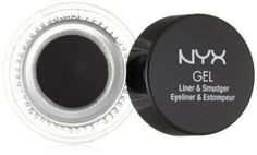 NYX Cosmetics Gel Eyeliner and Smudger Betty Jet Black 011 Ounce ** Read more at the image link. Best Gel Eyeliner, Eyeliner Types, Eyeliner Brands, Eyeliner Looks, How To Apply Eyeliner, Pencil Eyeliner, Perfect Cat Eye, Nyx Cosmetics