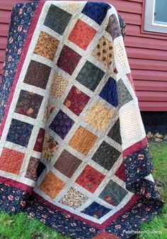 Patchwork Lap Quilt Sofa Quilt or Quilted by PatsPassionQuilteds