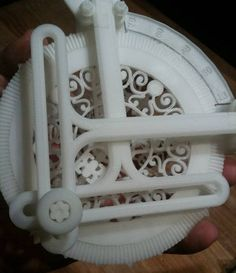 """Lalbritton's """"Ideal Harmonic Transformer"""" is a 3D printed mechanism for calculating sines and cosines:"""