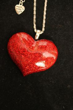 My HEART Beats 4U Blood Red Holographic Glitter by tranquilityy, $10.00