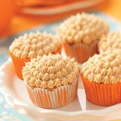 Pumpkin Spice Cupcakes with Cream Cheese Frosting Recipe from Taste of Home